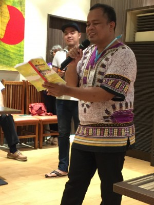 Legazpi Project Director Gari orients us to Unbound in the Philippines
