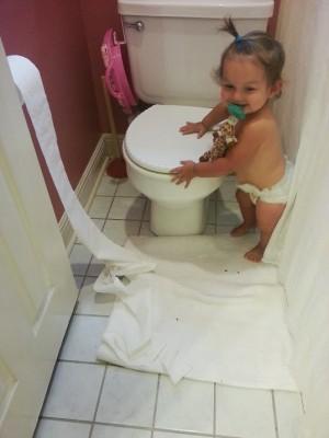 gianna in the bathroom