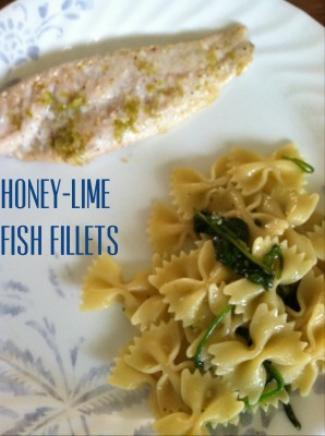 Meatless Fridays: Honey-Lime Fish Fillets and Spinach and Pasta with Garlic
