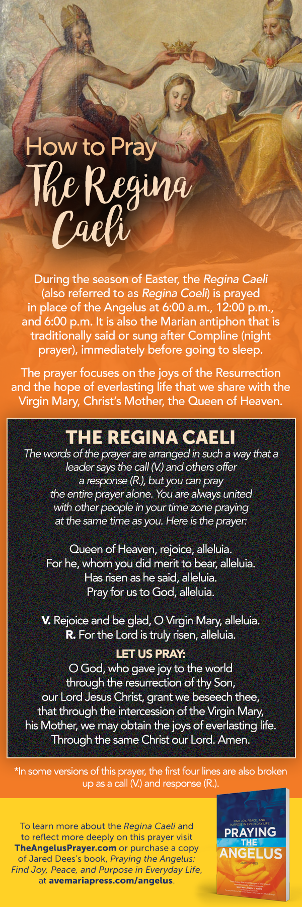 """A fun way to pray the Regina Caeli with kids"" by Jared Dees (CatholicMom.com)"
