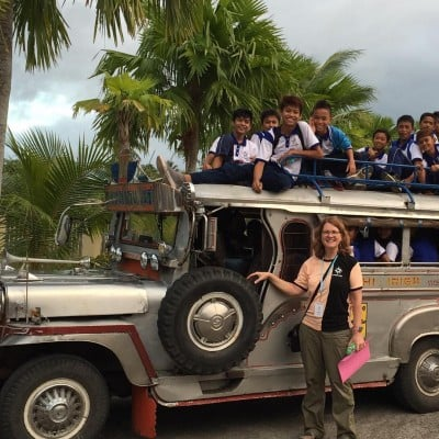 Hundreds of Unbound program participants traveled by Jeepney to join us for the day in Legazpi.