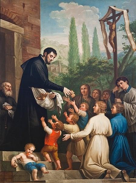 """Saint Jerome Emiliani - Patron of the Orphans"" by Flavia Ghelardi (CatholicMom.com)"