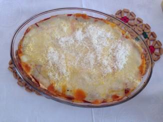 lasagna with carrot sauce Flavia Ghelardi