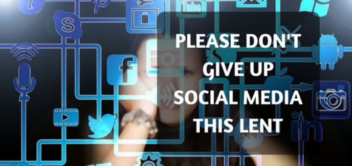 """""""Please don't give up social media this Lent"""" by Allison Gingras (CatholicMom.com)"""