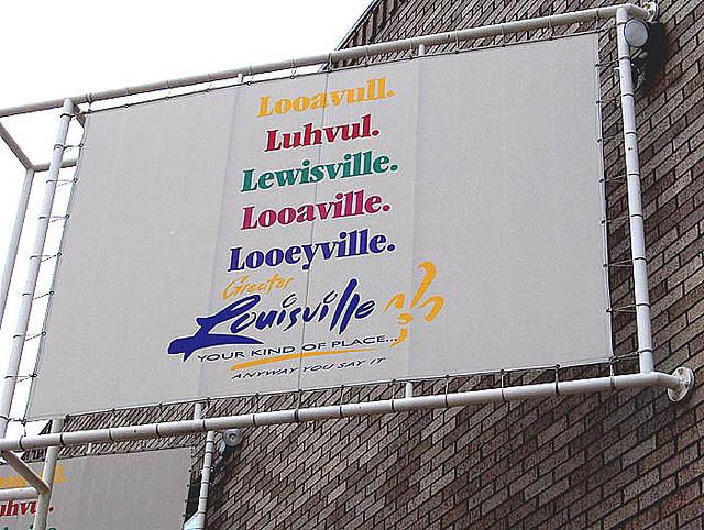 Louisville Pronunciation Guide by Alex Leung (2004) via Flickr, CC.