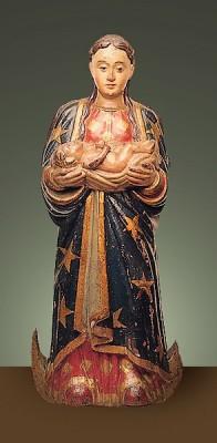 Nossa Senhora do Bom Parto, século XVII. Museu de Arte Sacra de São Paulo, Brasil