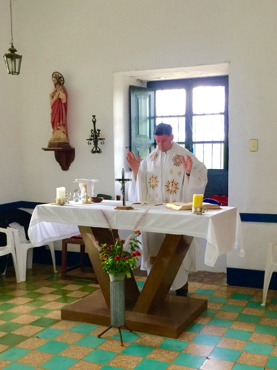 The highlight of today: Fr. Rafael Capo celebrated Mass for us in the chapel at Villa Loyola.