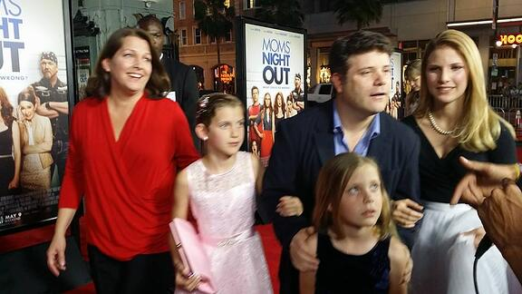 Sean Astin with his family.
