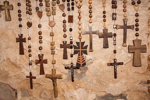 multiple wooden Rosaries