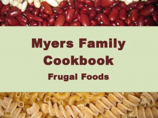 myers family cookbook frugal