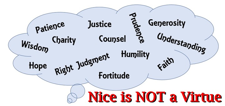 """Nice is Not a Virtue"" by Kate Taliaferro (CatholicMom.com)"