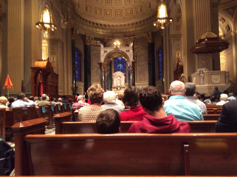 """""""All are welcome"""" by David & Mercedes Rizzo for CatholicMom.com"""