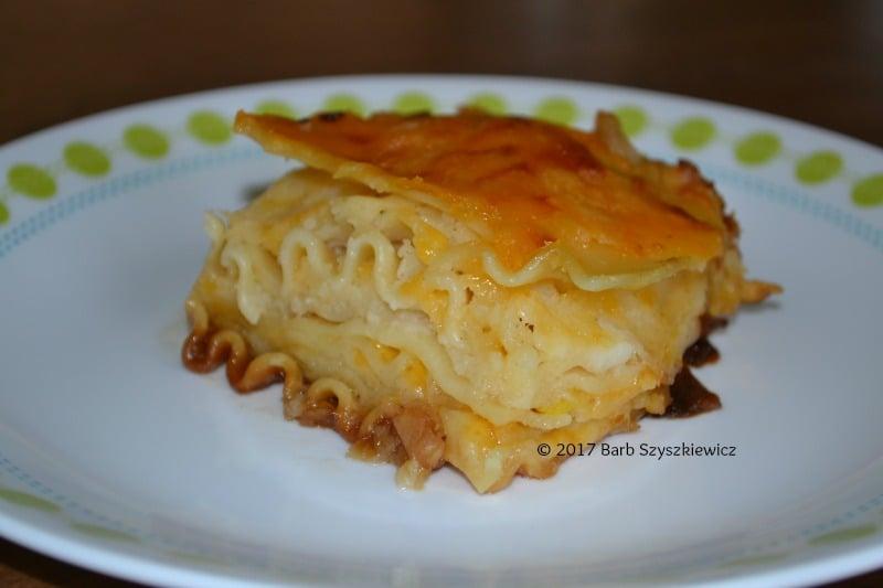 """""""Meatless Friday: Pierogi Lasagna by Barb Szyszkiewicz (CatholicMom.com)"""