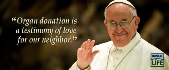 pope francis organ donation
