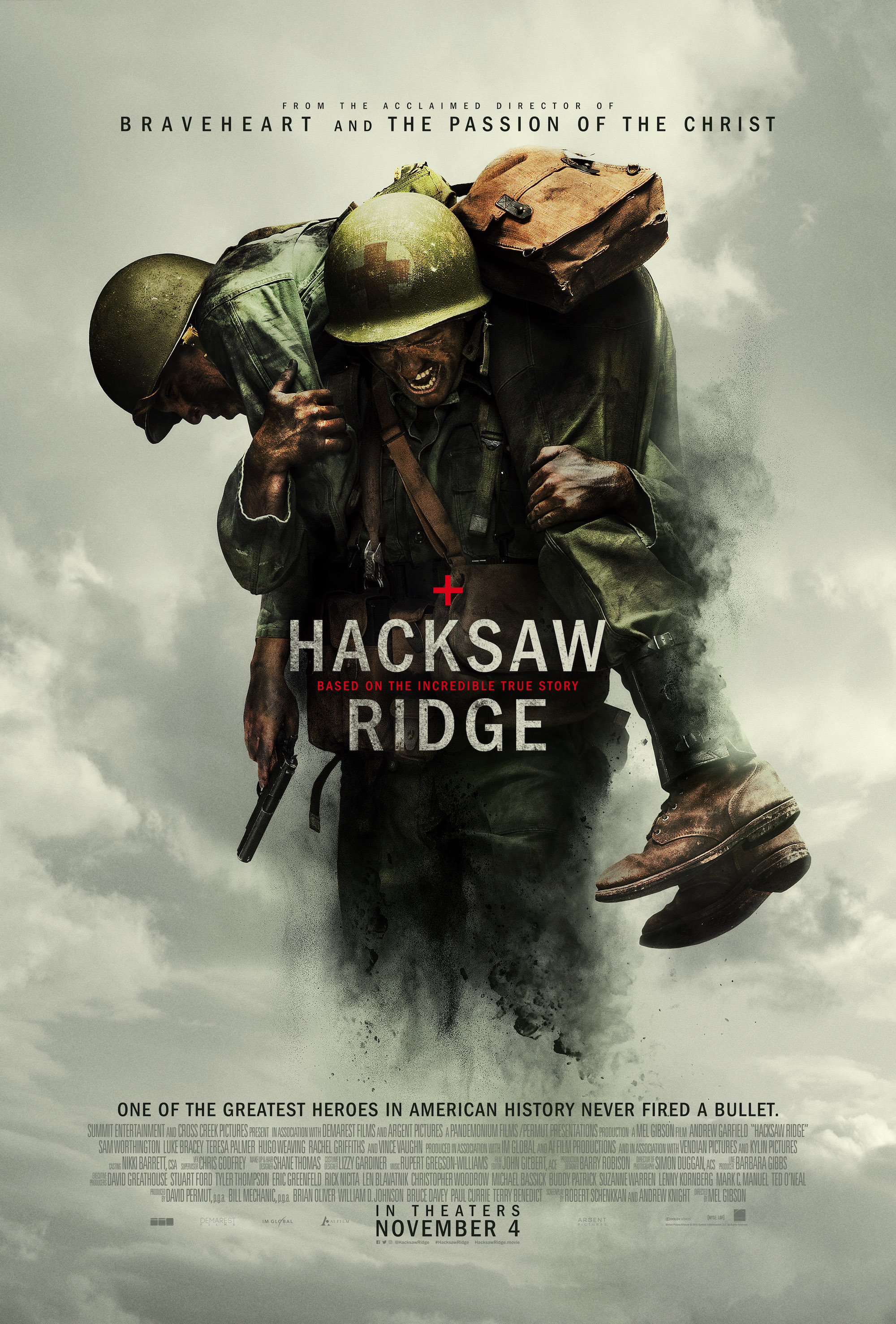 Win a director signed copy movie poster from HACKSAW RIDGE.