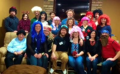 The annual wig and nog and glog party always brings lots of love and laughs
