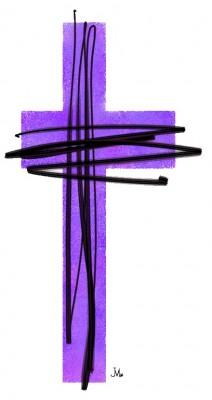 purple cross_-lent