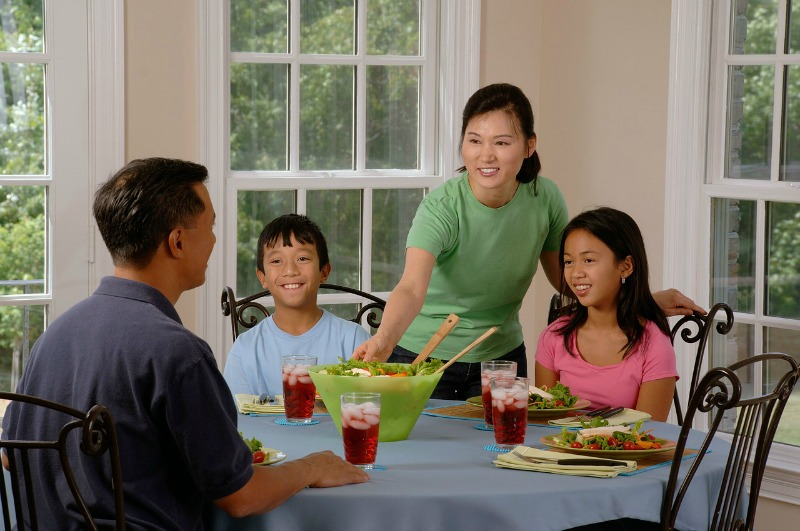 """""""Restorative blessings of dining together"""" by Donna-Marie Cooper O'Boyle (CatholicMom.com)"""