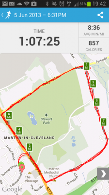 runkeeper map sample