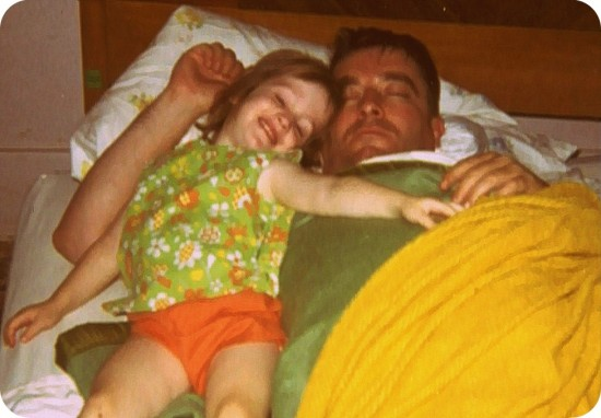 Roxane with her father in 1973