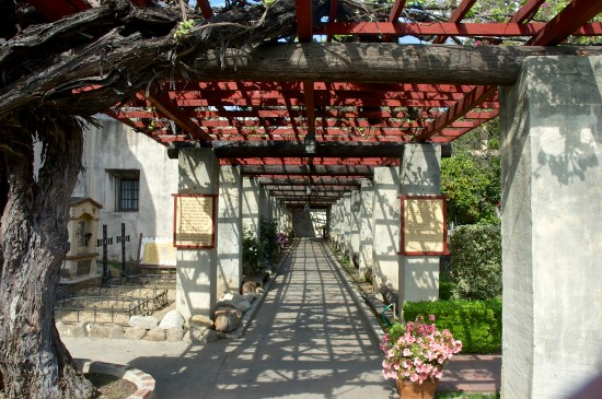 The arbor at Mission San Gabriel