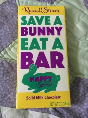 save a bunny eat a bar