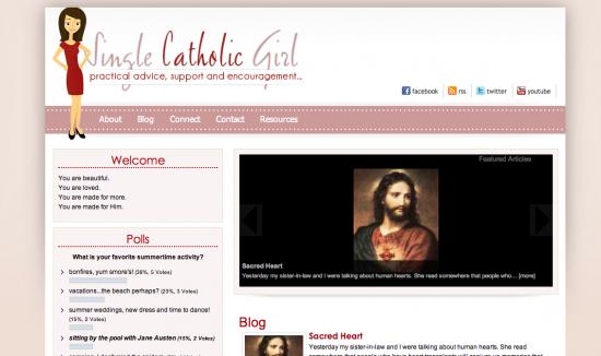 single catholic girl screen