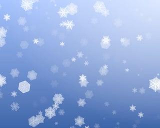 Snowflakes Falling Upward