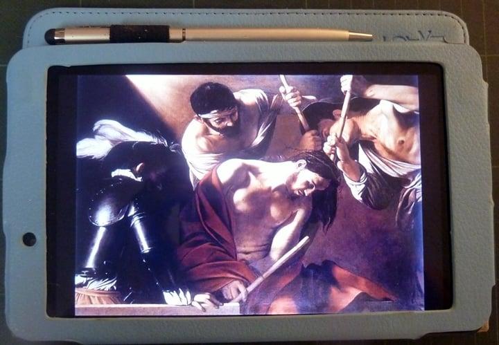 sorrowful mysteries on tablet