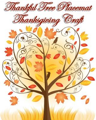 """Thankful Tree Placemat"" Thanksgiving Craft"