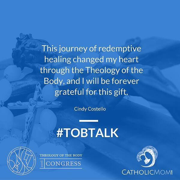 Cindy Costelloshareshow Theology of the Body pointed her to redemptive healing. Join us for today's installment of #TOBtalk.