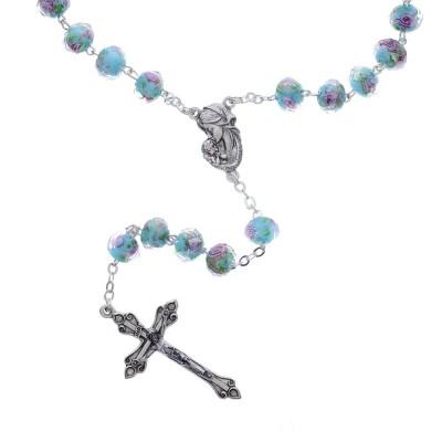 turquoise rose rosary - Catholic Company