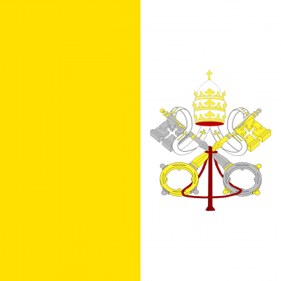 Papal Flag. Image via Pixabay.
