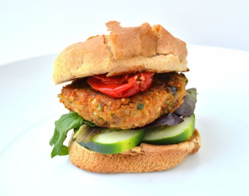 Not-a-Burger (Garam Masala Veggie Burger)