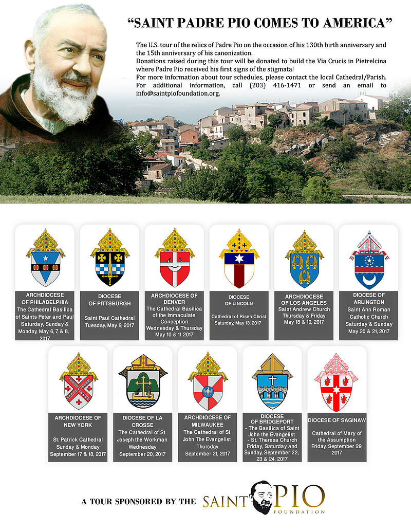 """""""The Padre Pio Relic Tour Comes to the USA This Week"""" by Barb Szyszkiewicz, OFS (CatholicMom.com)"""