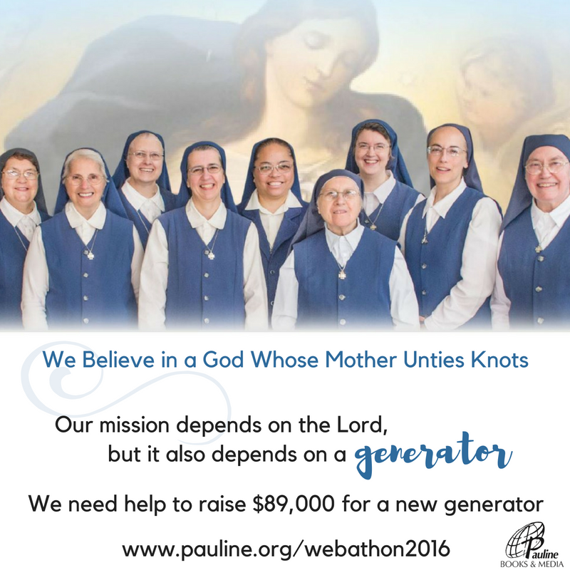 "Daughters of St. Paul Hold Live ""Mary Undoer of Knots"" Novena for Annual Webathon (CatholicMom.com)"