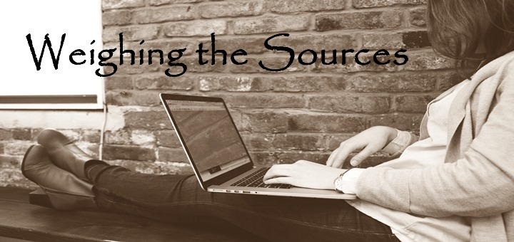 """""""Weighing the Sources"""" by Kate Taliaferro (CatholicMom.com)"""