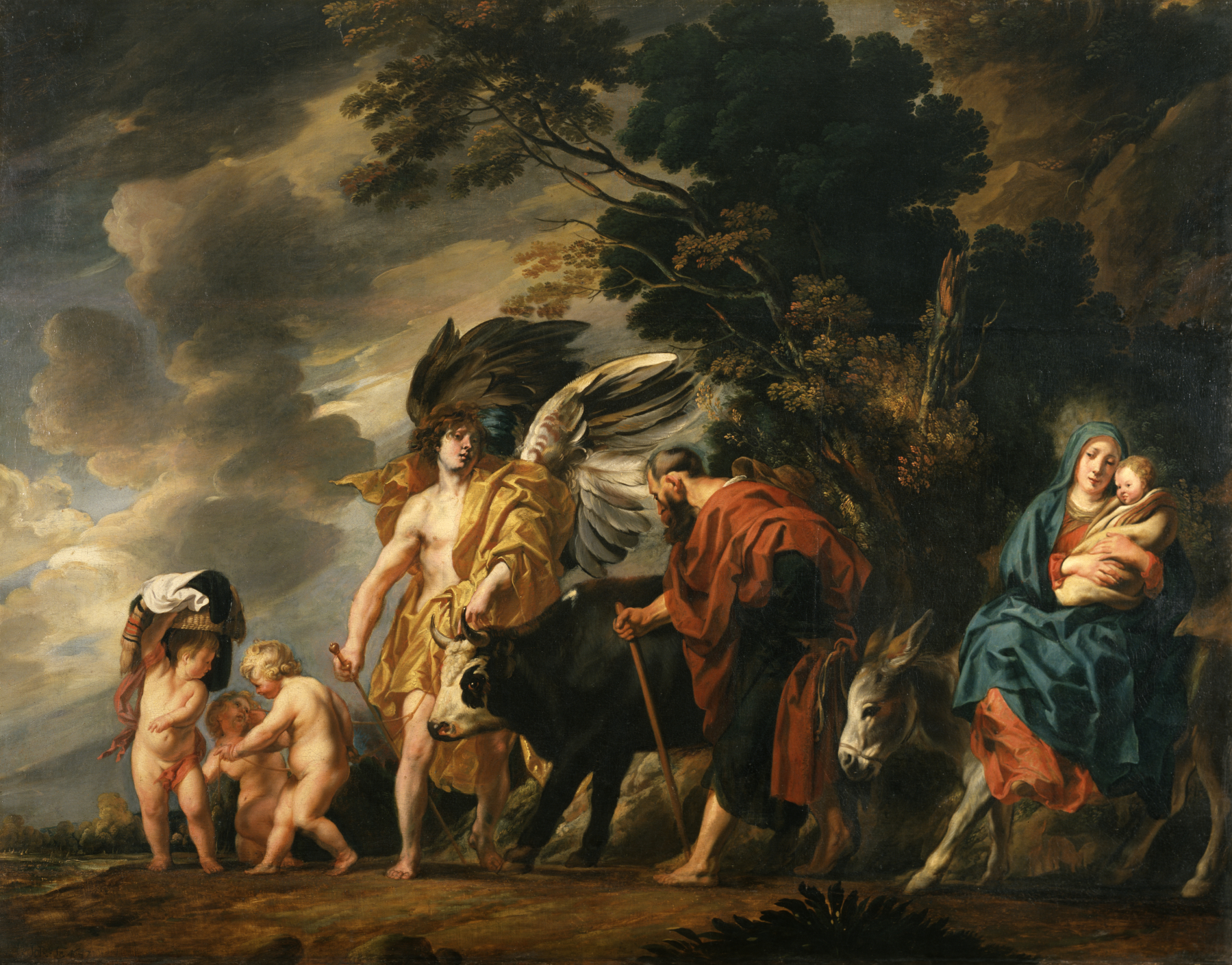 Jacob_Jordaens_the_elder_-_Flight_of_the_Holy_Family_into_Egypt_-_Walters_372368