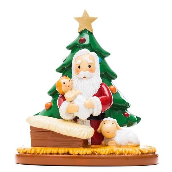 LDOW praying Santa