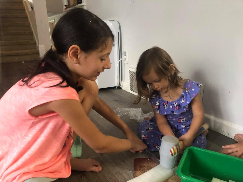 Mass Box - children creating a craft