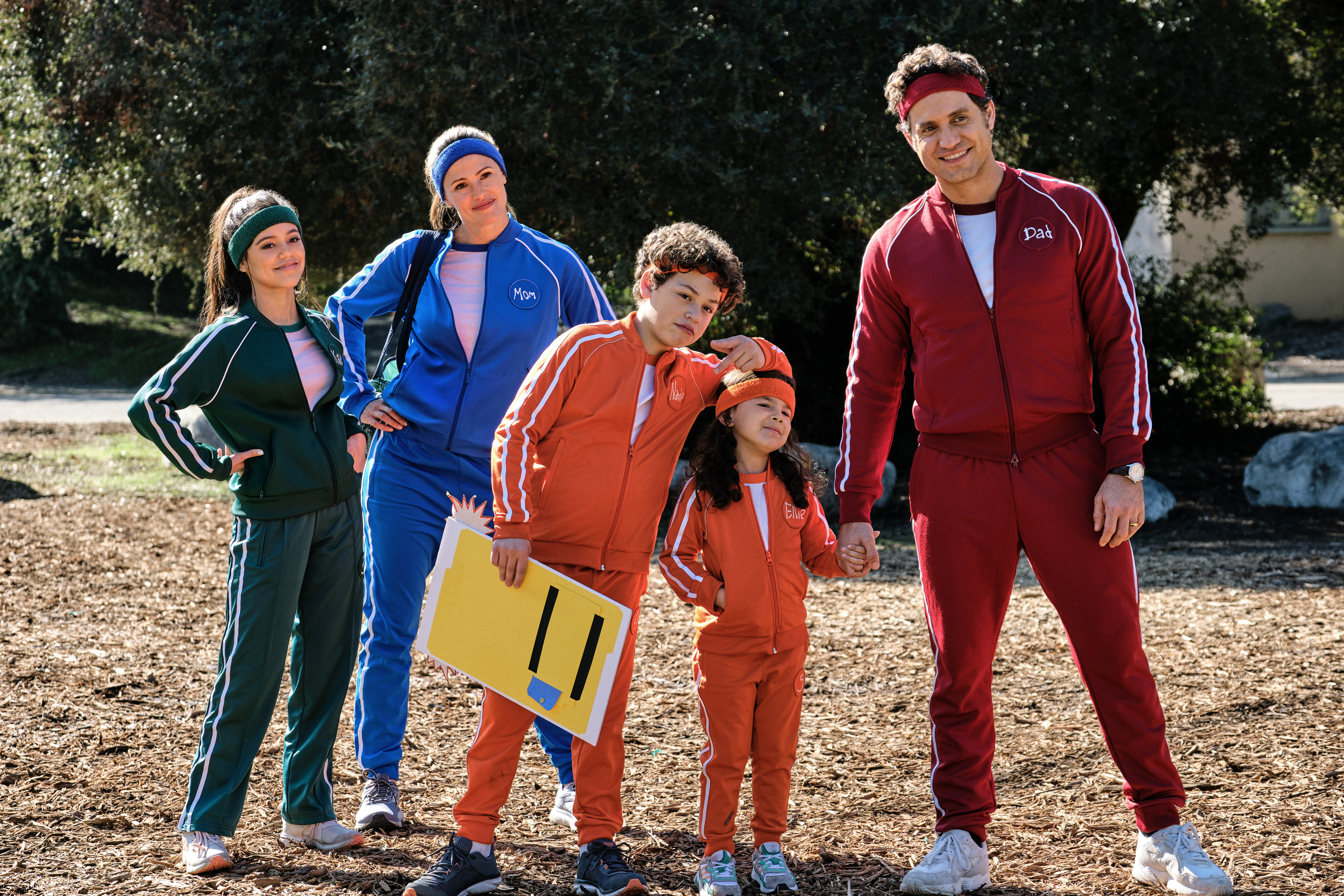 YES DAY: family in running clothes
