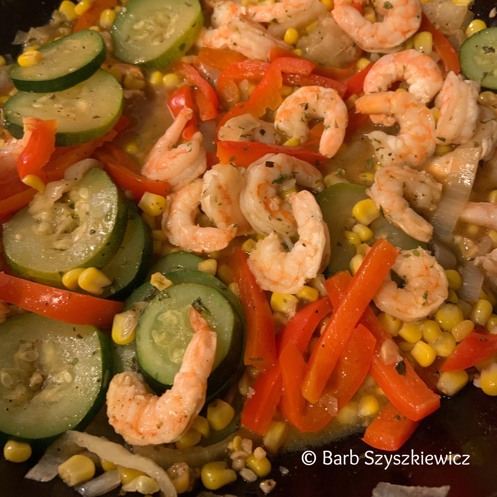 cajun shrimp and vegetables